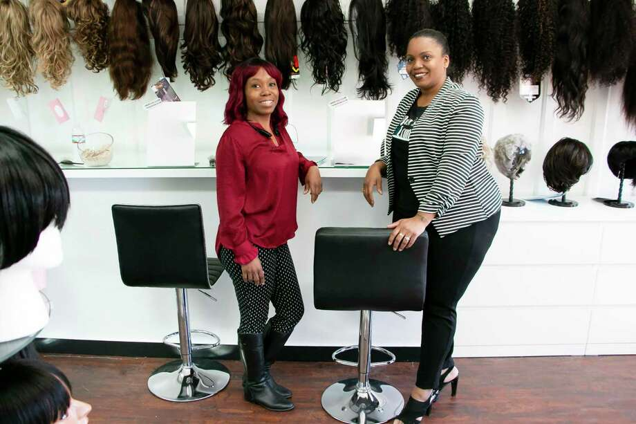 Hair Goals Club opened in downtown Humble Nov. 15, offering a place of security and comfort for hair wig needs for all genders and ages. Photo: Savannah Mehrtens/Staff Photo / Savannah Mehrtens/Staff Photo