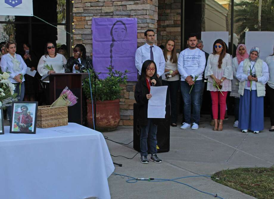 Harmony Science Academy-Sugar Land students, staff and family members turn out for a memorial service honoring two fellow students who were recently killed in a plane crash in Kingston, Ontario. On Thursday, Dec. 6, teachers, parents and classmates gathered to remember 5-year-old Ilyas and 11-year-old Jasmine Oblokulov, who were among seven family members who died in the Nov. 27 crash. Photo: Kristi Nix / Staff Photo