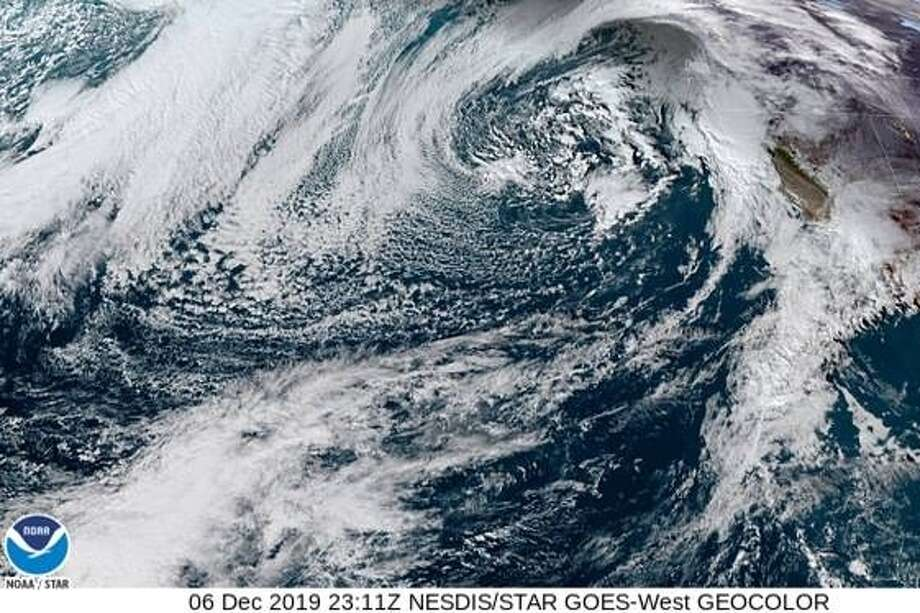 NASA's GOES-17 depicting a storm approaching California on the afternoon of Dec. 6, 2019. Photo: GOES-17 / NASA