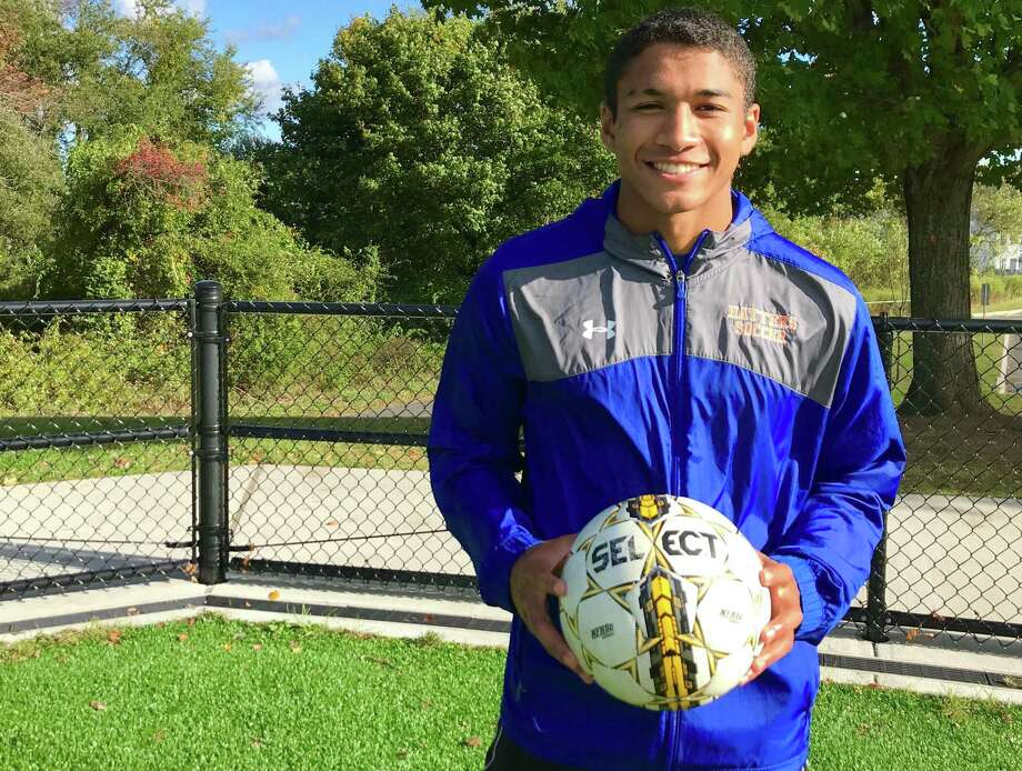 Danbury's Tyler Warren, a senior on the Danbury boys soccer team, is committed to play at Northwestern University. Warren was named to the All-New England boys soccer team on Thursday. Photo: Scott Ericson / Hearst Connecticut Media / Connecticut Post
