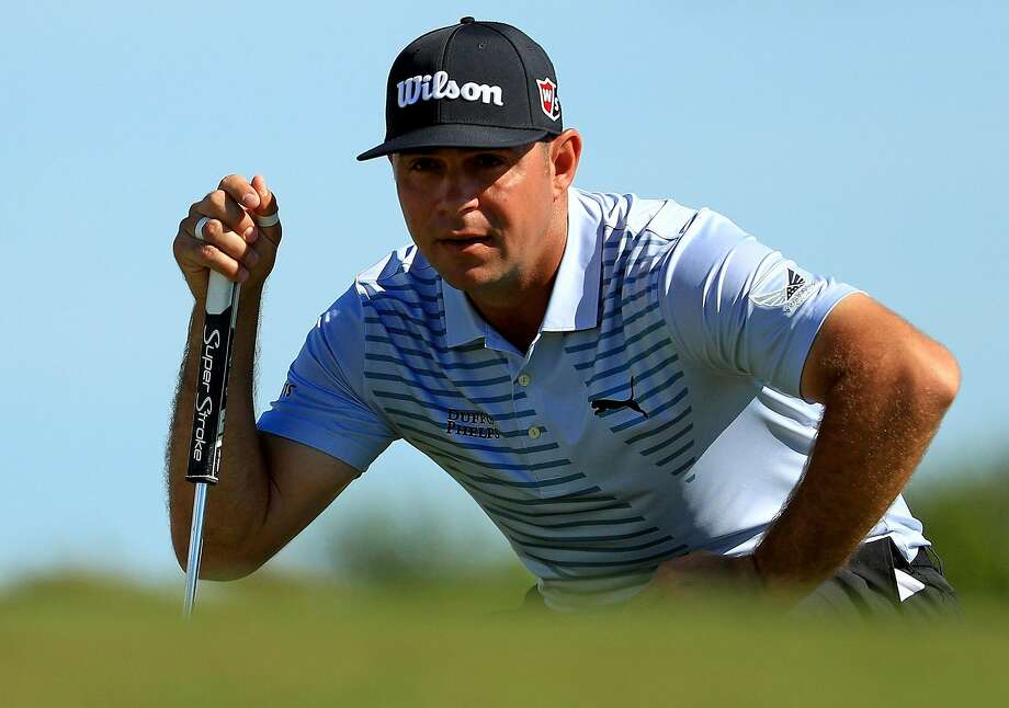 Gary Woodland, who won the U.S. Open at Pebble Beach in June, leads after three rounds of the Hero World Challenge in Nassau, Bahamas. Photo: Mike Ehrmann / Getty Images