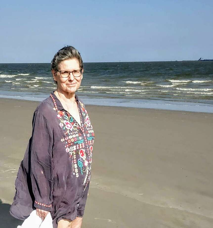 "Virginia ""Ginny"" Messec enjoys a day at the beach Oct. 3, 2019. Messec was an employee at the San Antonio Express-News for nearly 20 years. She was initially hired as a typist. Shed became a library researcher, then an editor and reporter. Photo: Courtesy / David McLemore"