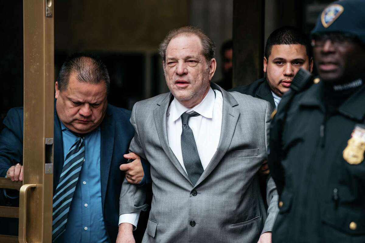 NEW YORK, NY - DECEMBER 06: Harvey Weinstein leaves New York City Criminal Court after a bail hearing on December 6, 2019 in New York City. The Oscar-winning producer appeared in court for a proceeding to evaluate his bail in part of reforms set to take effect Jan. 1 throughout New York State. (Photo by Scott Heins/Getty Images)