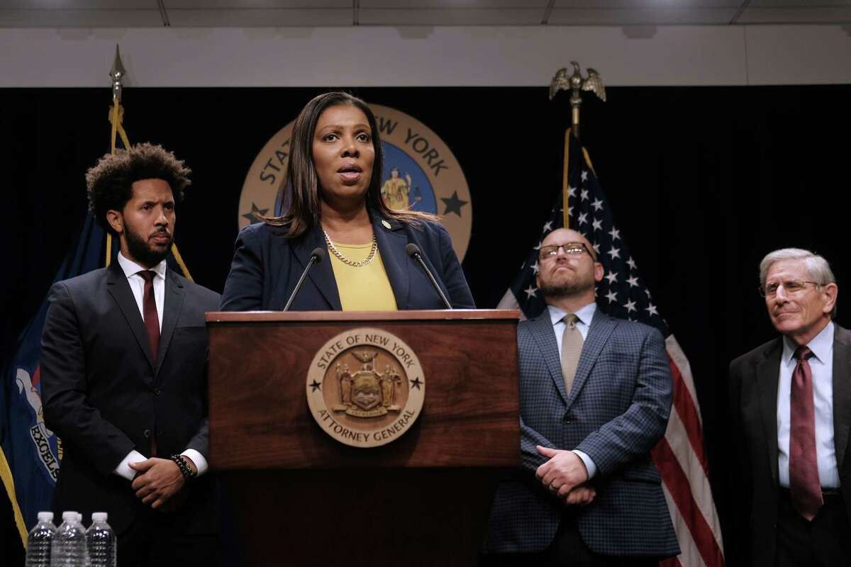 State Attorney General Letitia James. (Photo by Spencer Platt/Getty Images)