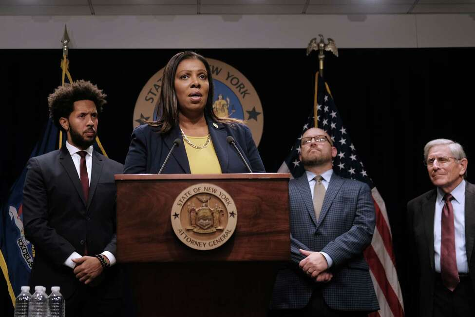 NEW YORK, NEW YORK - NOVEMBER 19: State Attorney General Letitia James announces a lawsuit against e-cigarette giant Juul on November 19, 2019 in New York City. James said that the suit against Juul, the nations most popular e-cigarette brand, is for allegedly engaging in deceptive marketing and sales tactics that were primarily aimed at youth. Department of Health experts are currently examining 182 reported cases statewide that are related to severe pulmonary illnesses thought to be from e-cigarettes. (Photo by Spencer Platt/Getty Images)