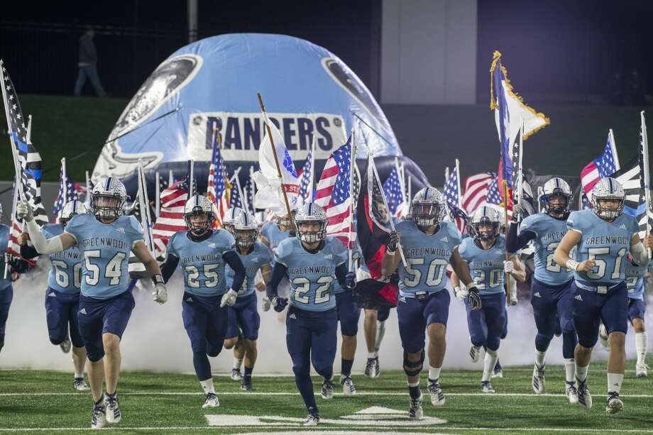 Greenwood players take the field as they take on Iowa Park 12/06/19 at Anthony Field on the campus of Abilene Christian University. Tim Fischer/Reporter-Telegram Photo: Tim Fischer/Midland Reporter-Telegram
