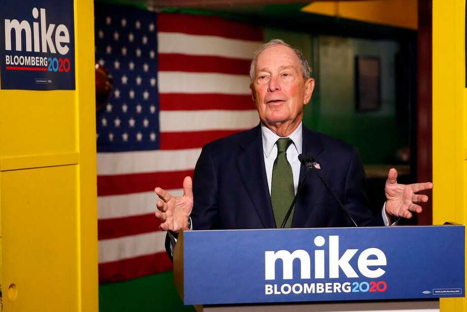 In this Nov. 26, 2019, file photo, Democratic presidential candidate Michael Bloomberg speaks to the media in Phoenix. (AP Photo/Rick Scuteri, File) Photo: Rick Scuteri/Associated Press
