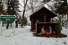 This nativity is among several decorations lining the public space in Kaleva this Christmas season. (Courtesy photo)