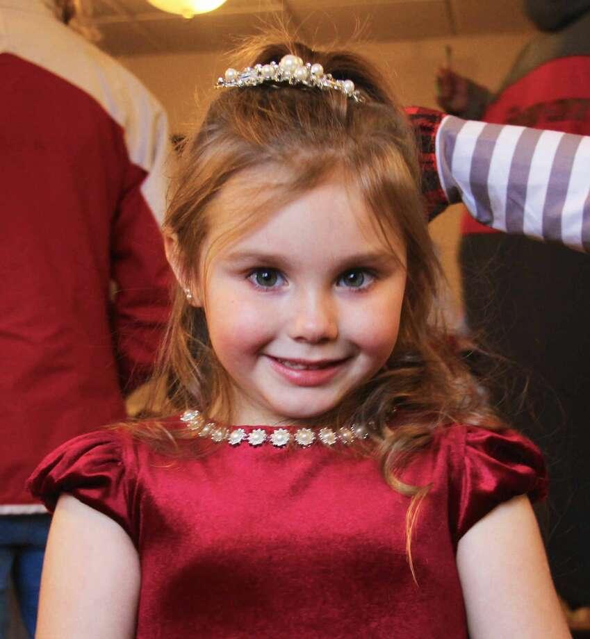 Rebecca Bouverette, 5, is a Snow Princess contestant. Photo: Sara Eisinger/Huron Daily Tribune
