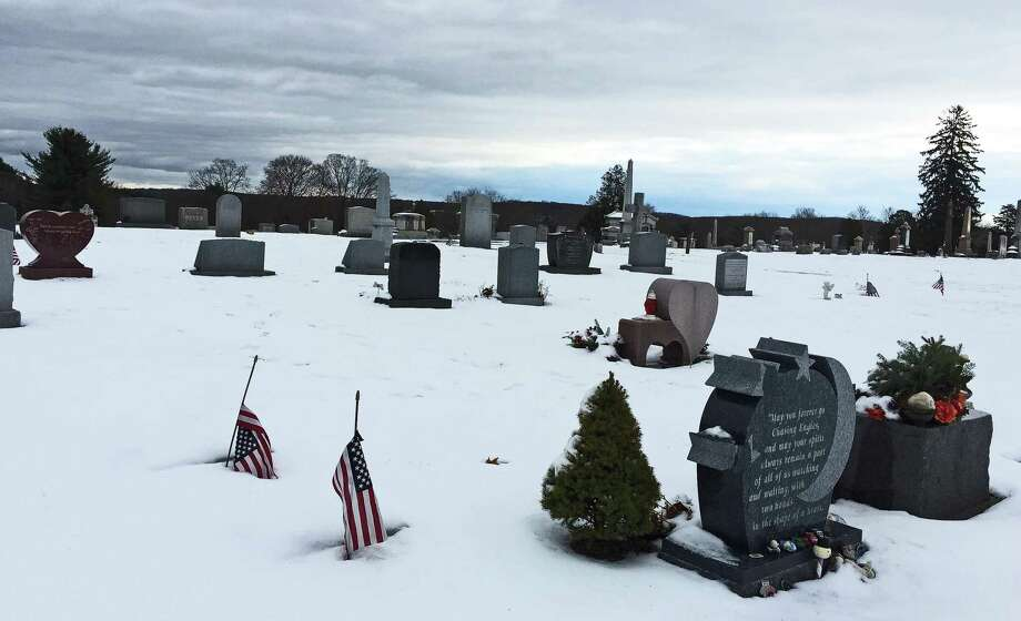The Newtown Village Cemetery, where some of the victims of the Dec. 14, 2012 shooting are buried, on Thursday, Dec 7, 2019. Photo: John Breunig /Hearst Connecticut Media