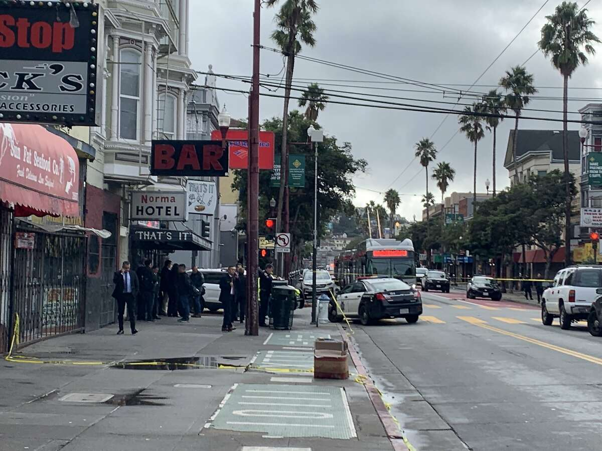 San Francisco police are investigating an officer-involved shooting that wounded one person Saturday in the Mission District on Saturday, Dec. 7, 2019.