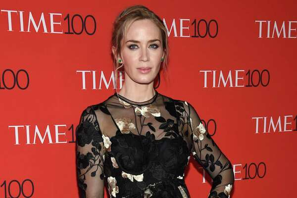 Emily Blunt attends the Time 100 Gala celebrating the 100 most influential people in the world at Frederick P. Rose Hall, Jazz at Lincoln Center in New York.