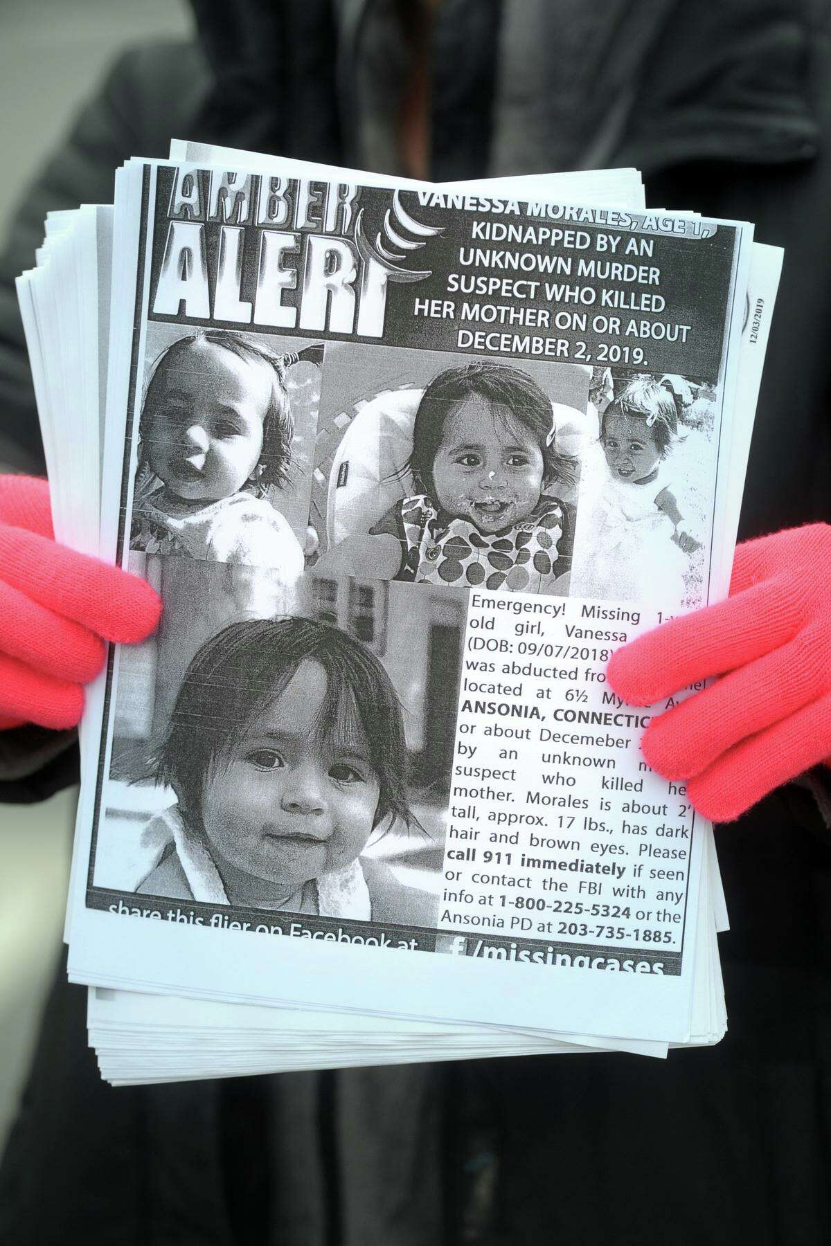 Residents concerned with finding Vanessa Morales, the Ansonia toddler who went missing after the murder of her mother, still continue to hand out flyers to bring attention to the case.