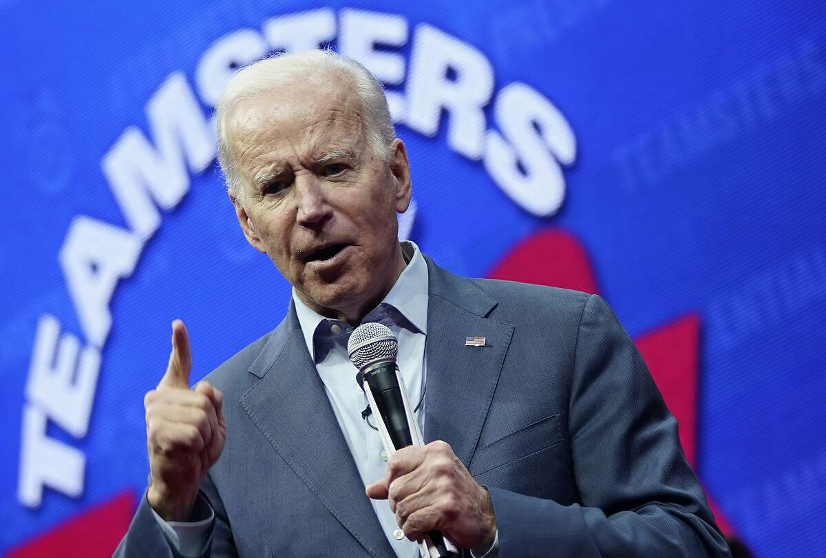 Democratic presidential candidate former U.S. Vice president Joe Biden speaks at the Teamsters Vote 2020 Presidential Candidate Forum December 7, 2019 in Cedar Rapids, Iowa. The Iowa Caucuses are less than two months away.