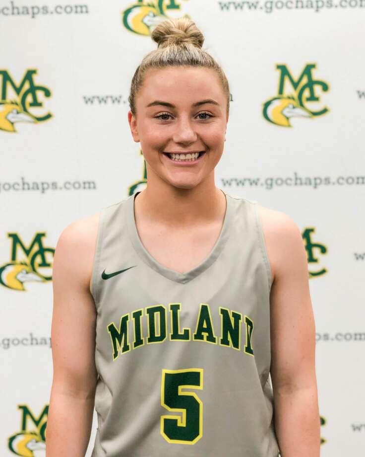 Midland College women's basketball player Grace Beasley Photo: Midland College Athletics