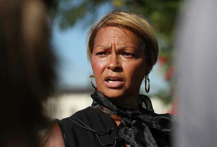 Donna Hylton talks about Saturday's memorial service for her cousin, Andreen Nicole McDonald, 29, a San Antonio mother and businesswoman slain earlier this year. McDonald's exact cause of death hasn't been released, but her husband, Andre Sean McDonald, is charged with murder in her death.