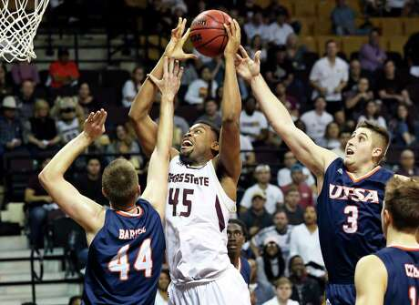 Eric Terry, shown here in earlier season action against UTSA, led Texas State with 19 points in a loss to Georgia State on Saturday.