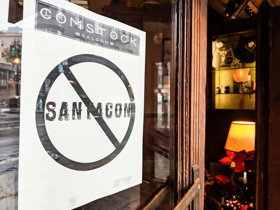 Santacon may be a beloved San Francisco tradition, but some bars like Comstock Saloon choose not to participate. Photo: Dan Gentile
