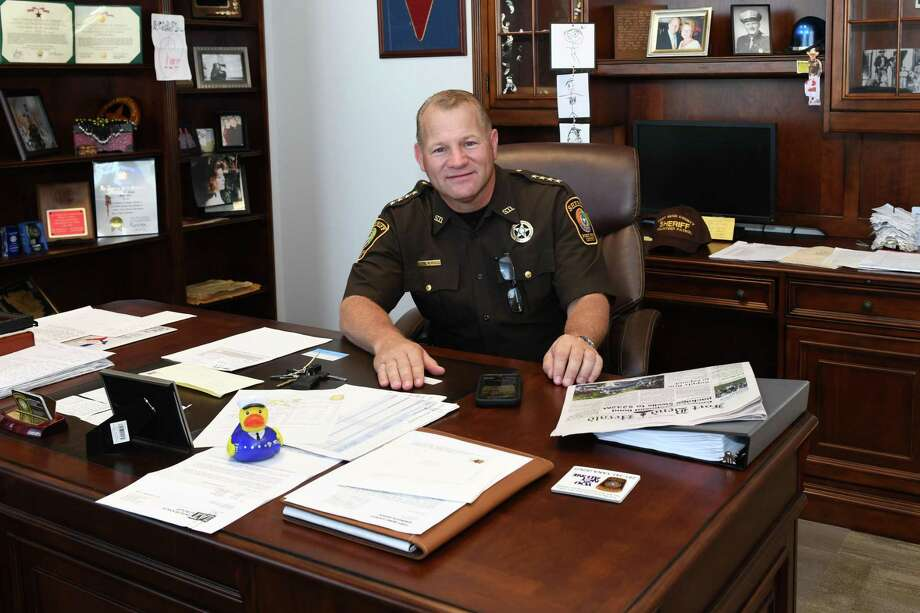 Sheriff Troy Nehls expressed unwavering support for President Trump. Photo: Craig Moseley, Houston Chronicle / Staff Photographer / ©2019 Houston Chronicle