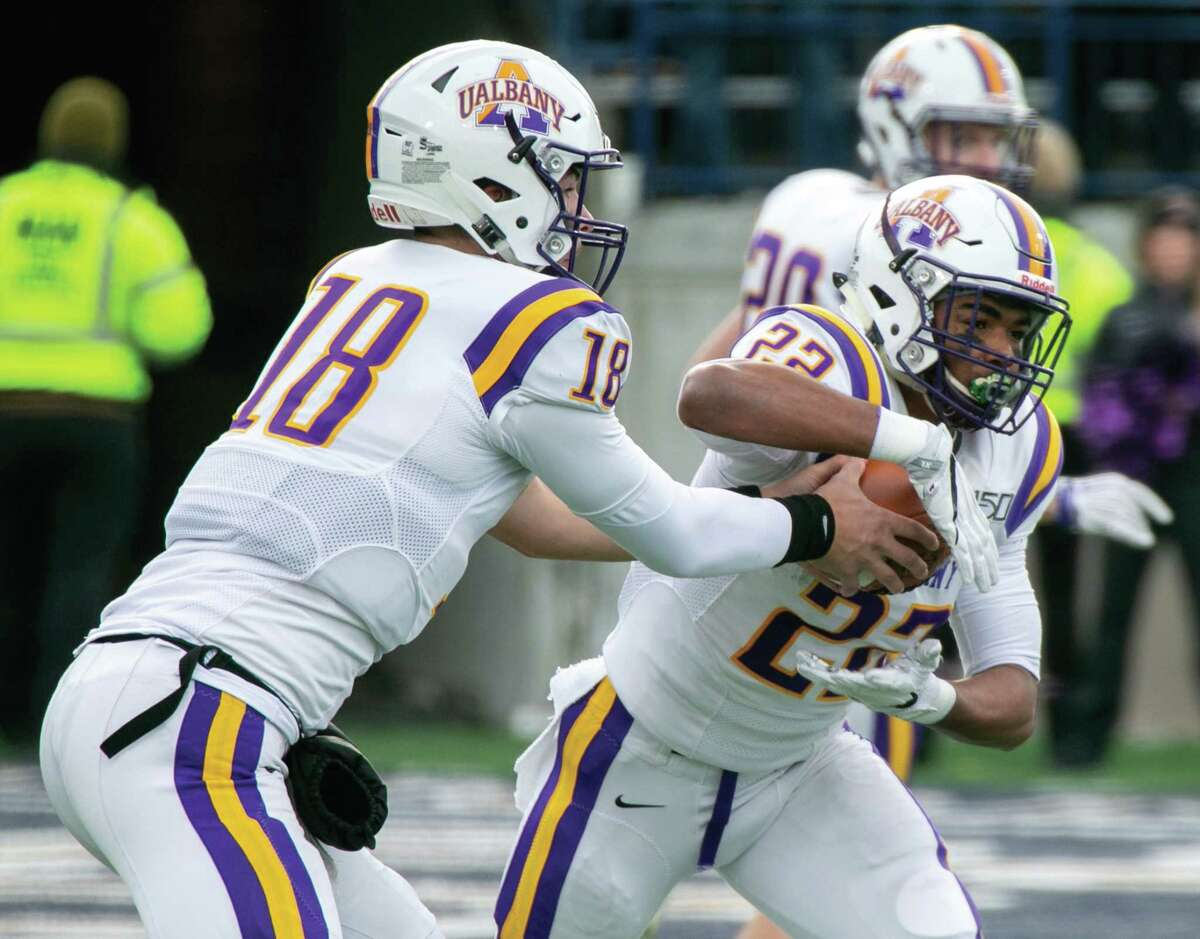 UAlbany quarterback Jeff Undercuffler, left, is one of the top players returning for the Danes.