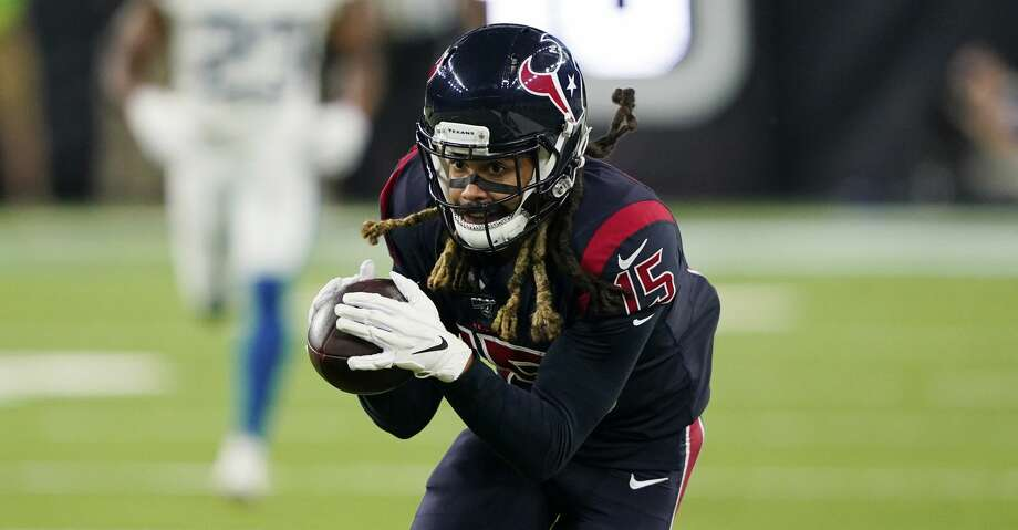 Houston Texans wide receiver Will Fuller (15) during the second half of an NFL football game against the Indianapolis Colts Thursday, Nov. 21, 2019, in Houston. (AP Photo/David J. Phillip) Photo: David J. Phillip/Associated Press