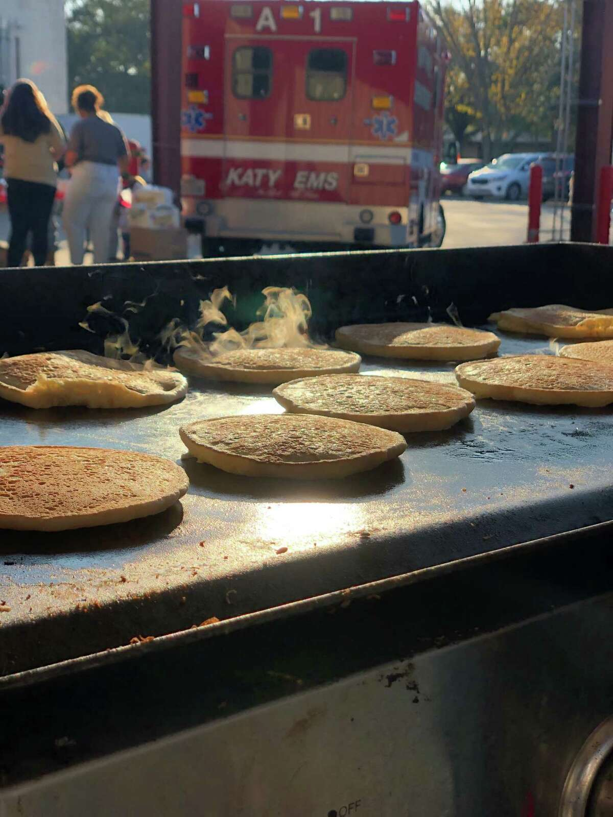 Serving started at 7:30 a.m. Saturday, Dec. 7, at the second annual Pancakes with Santa hosted by Katy Professional Fire Fighters Association 5192 at Fire Station 1,1417 Ave. D. Proceeds fund the KT Firefighter's Scholarship.The association awarded its first two scholarships at the Saturday breakfast.