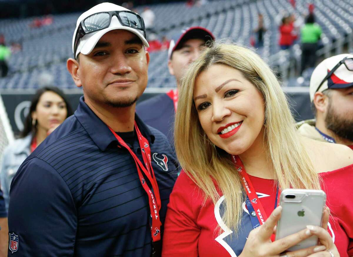 PHOTOS: Check out Texans fans at Sunday's game Houston Texans fans watch warm ups before an NFL football game against the Denver Broncos at NRG Stadium on Sunday, Dec. 8, 2019, in Houston.