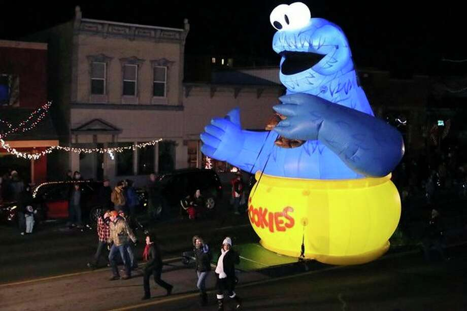 This Cookie Monster balloon was a hit at Saturday's Christmas parade in Gladwin. (Courtesy Photo/Bob Frei)