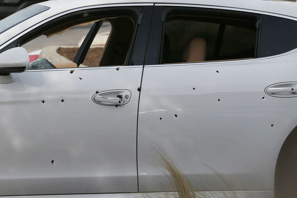San Antonio police say a man was shot while driving in the parking area of The Rim Sunday, Dec. 8, 2019.