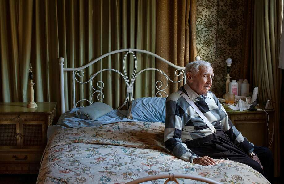 David Wisnia, an Auschwitz survivor who became an 101st Airborne trooper, at his home in Levittown, Pa. on Nov. 2, 2019. Two former lovers in Auschwitz were reunited 72 years later and he had one question: Was she the reason he was alive today?(Danna Singer/The New York Times) Photo: Danna Singer, NYT