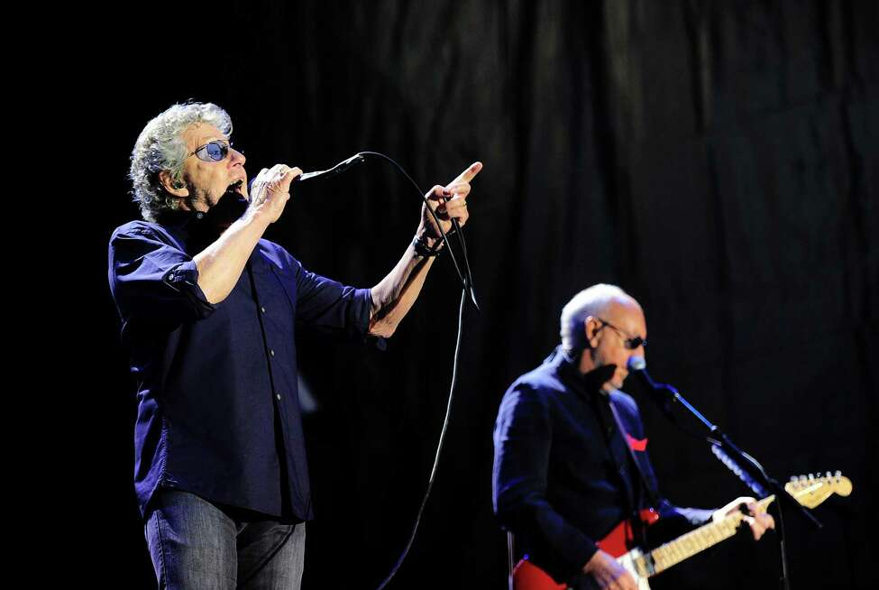 English singer Roger Daltrey (L) and English guitarist Pete Townshend of The Who perform on stage during the Azkena Rock Festival in Vitoria on June 18, 2016. / AFP PHOTO / ANDER GILLENEAANDER GILLENEA/AFP/Getty Images