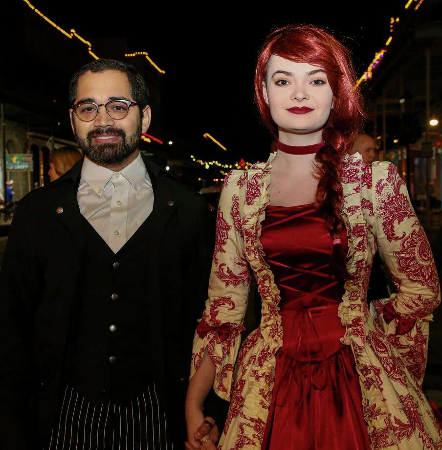 People attend the first day of the Dickens on The Strand Festival Friday, Dec. 6, 2019, in Galveston, Texas. The festival transforms the island's historic Strand into the Victorian London of Charles Dickens. Photo: Godofredo A. Vásquez, Staff Photographer / © 2019 Houston Chronicle