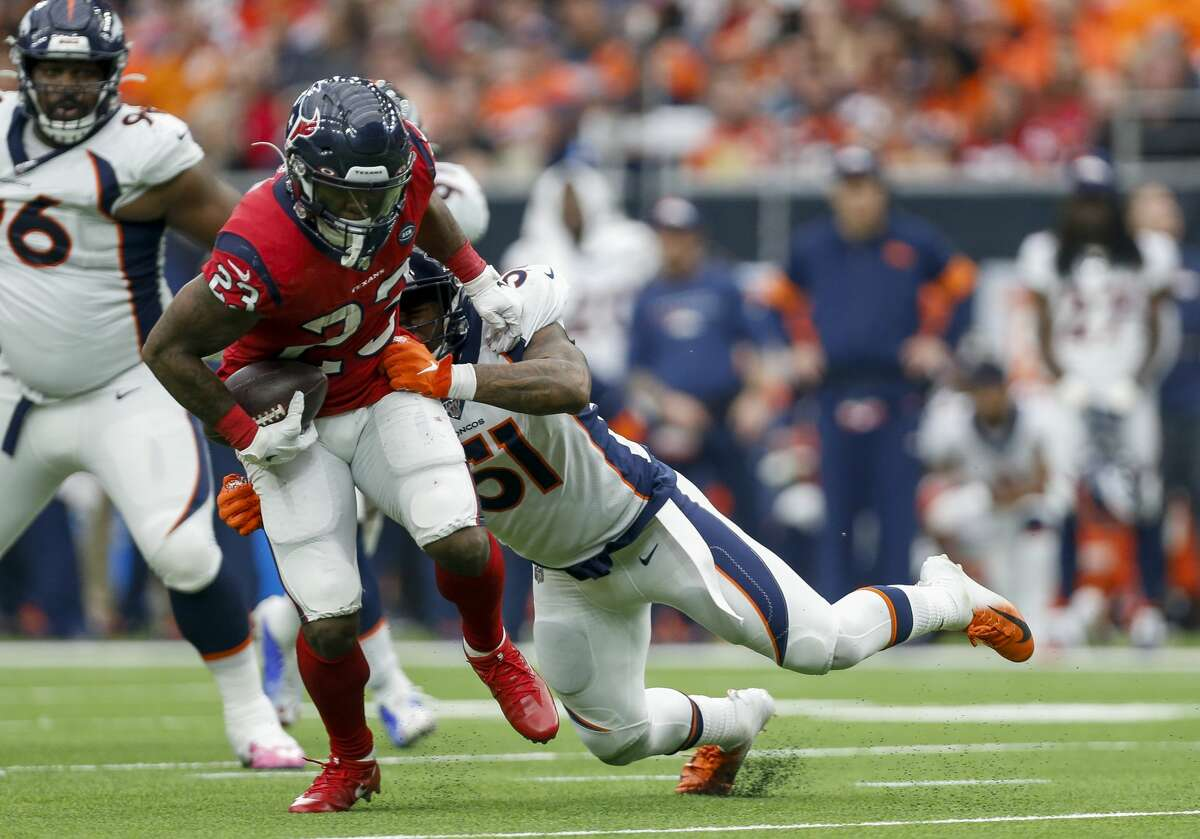 Carlos Hyde surpassed 1,000 yards for the season Sunday and has been a welcome addition to the Texans after arriving from Kansas City in a preseason trade.
