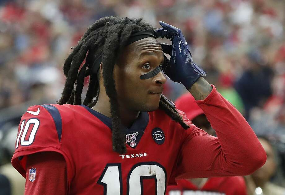 PHOTOS: John McClain's 2019 Week 17 predictions  Houston Texans wide receiver DeAndre Hopkins (10) reacts as he walked back to the locker room at halftime of an NFL football game at NRG Stadium, Sunday, Dec. 8, 2019, in Houston. >>>See The General's picks for this week's matchups ... Photo: Karen Warren/Staff Photographer