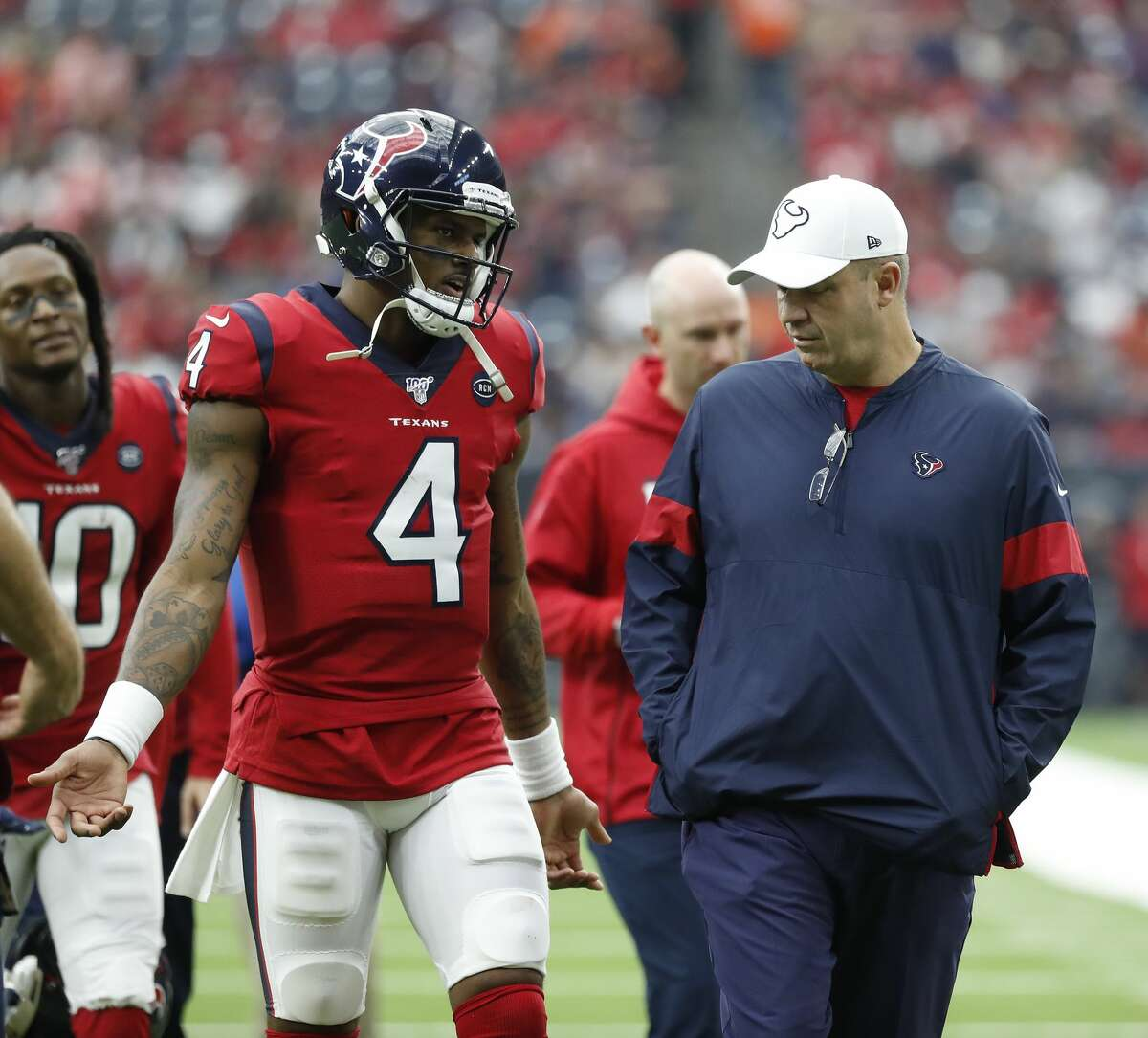 The Texans' first touchdown Sunday came when they were trailing the Broncos 38-3 in the third quarter, but Bill O'Brien defended the unit's performance Monday.