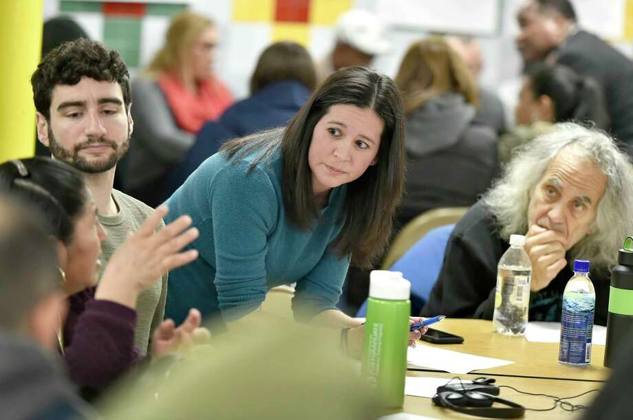 New Haven, Connecticut - Sunday, December 8, 2019:  A New Haven community meeting, organized by the transition team of New Haven Mayor-Elect Justin Elicker , asks for ideas and suggestions on the topics of economic development and education from the public Sunday afternoon as the last of a series of meetings to be held at the High School in the Community in New Haven before Elicker becomes mayor on January 1. Photo: Peter Hvizdak, Hearst Connecticut Media / New Haven Register