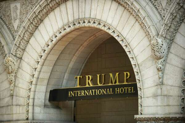 The logo of the Trump International Hotel in Washington.