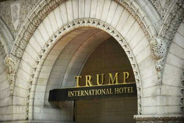 The logo of the Trump International Hotel in Washington.