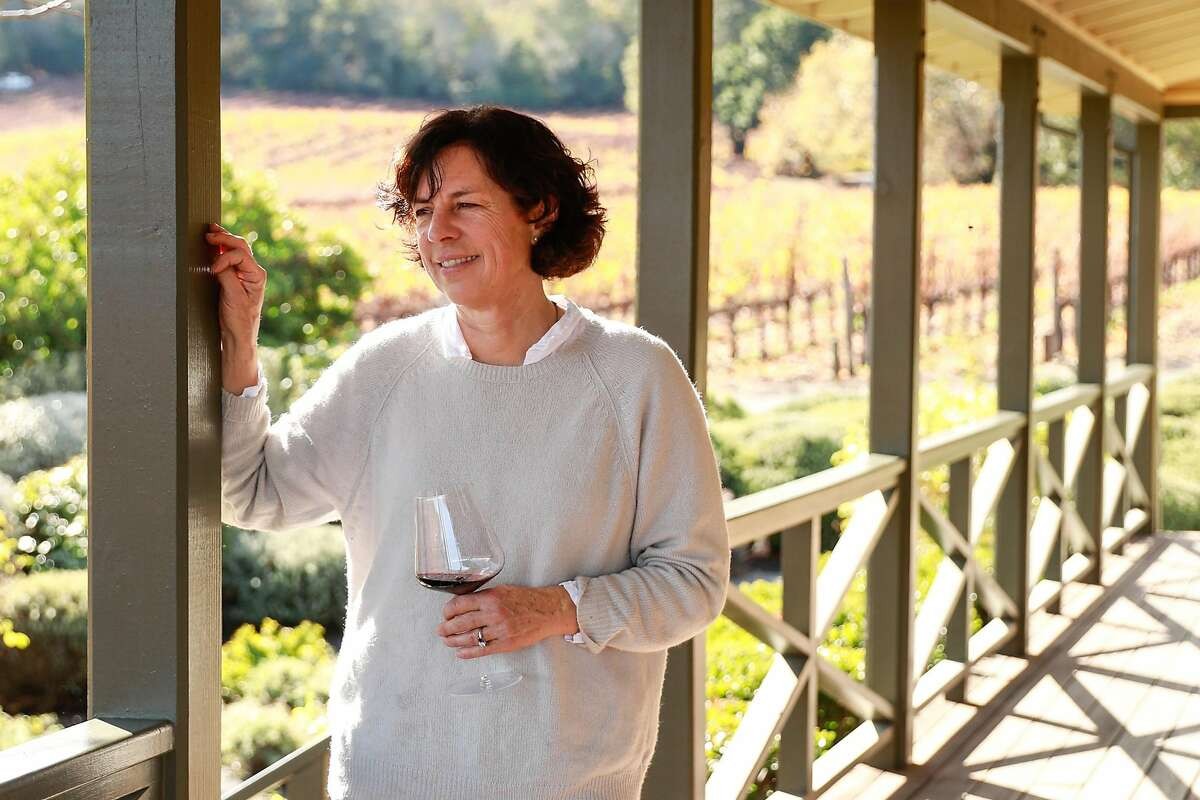 Winemaker Francoise Peschon poses for a portrait at Vine Hill Ranch vineyard in Oakville, California, on Tuesday, Dec. 3, 2019.