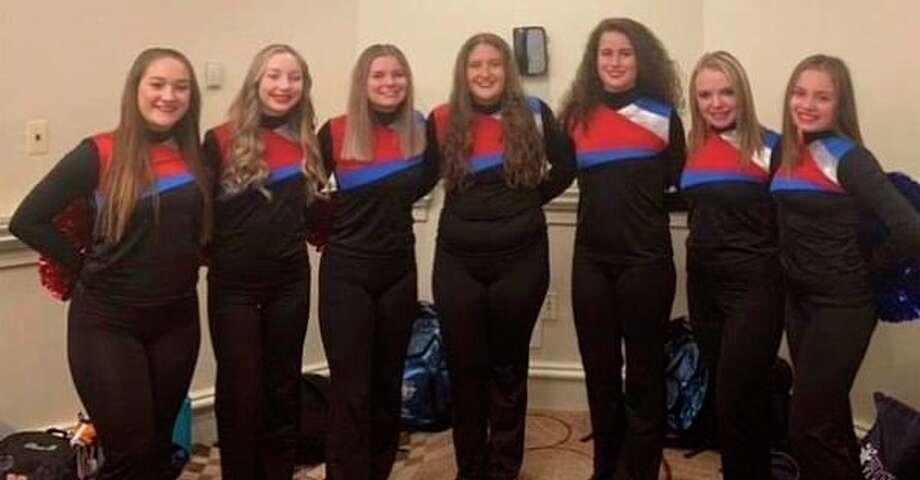 From left, Hemlock students Coryn Boyke, Kaitlyn Miller, Madi Jarabeck, Jenna Galonska, Madison Fromholz, Riley Morey and Paige Rump. (Photo provided)