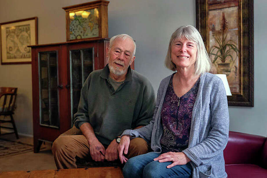 Dick and Pam Matthews moved to Carbondale in October. Local Realtors are seeing a rising trend of retirees moving to the area. Photo: Byron Hetzler | Southern Illinoisan (AP)