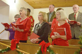 The choir at Murrayville United Methodist Church sing during Sunday service. The church will spend all of next year celebrating their 200th anniversary.