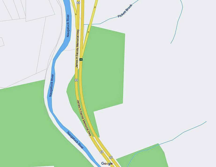 Two people were injured in a rollover crash on northbound Route on Sunday night on Dec. 8, 2019. The Harwinton Volunteer Fire Department said the accident happened about three-quarters of a mile north of Exit 42. Photo: Google Maps