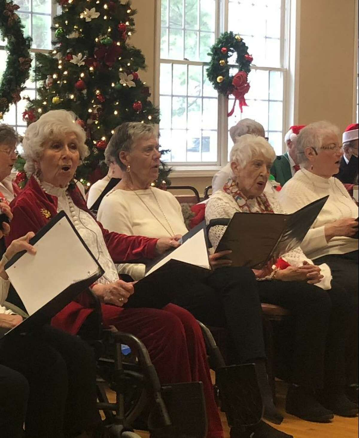 Christmas was in the air at the city's senior center Friday as the Shelton Songsters regaled a packed house with some holiday classics.