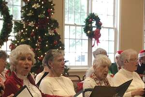 Christmas was in the air at the city's senior center Friday, Dec. 6, as the Shelton Songsters regaled a packed house with some holiday classics.