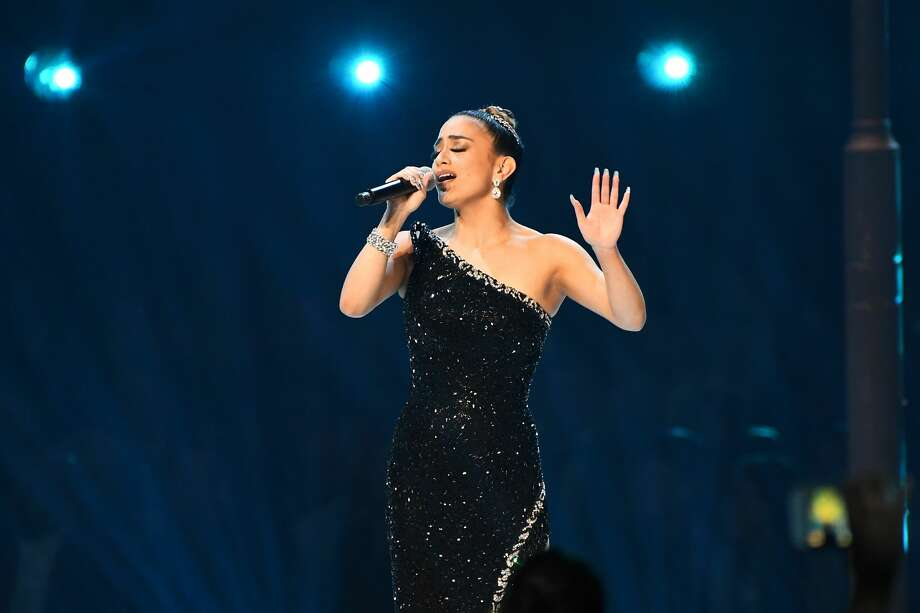 Ally Brooke performs onstage at the 2019 Miss Universe Pageant at Tyler Perry Studios on Dec. 8, 2019 in Atlanta, Georgia. Photo: Getty Images