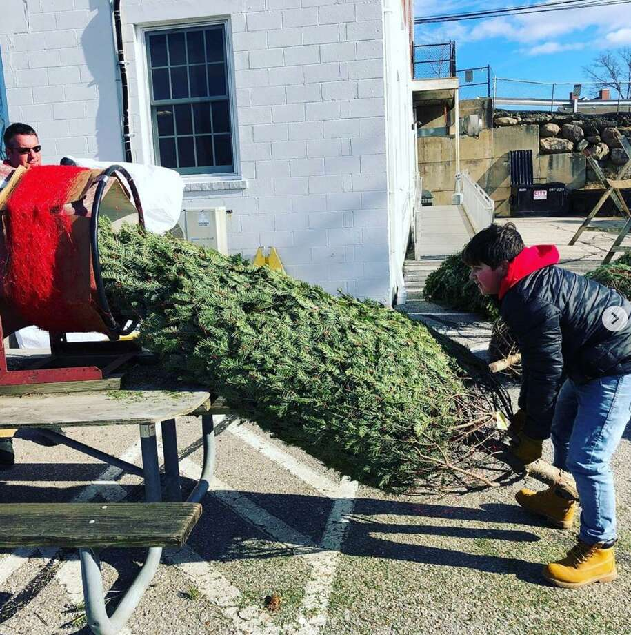 The Noroton Heights Fire Department is holding its annual Christmas tree sale. Photo: Noroton Heights Fire Department
