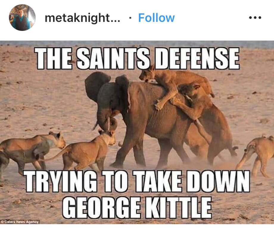 The best reactions from the 49ers-Saints game and NFL Week 14. Photo: Instagram