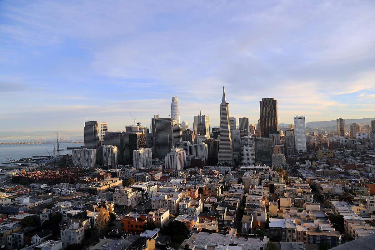 FILE -- Downtown San Francisco, Feb. 9, 2018. There are about a dozen industries at the frontier of innovation, and Boston, Seattle, San Diego, San Francisco and Silicon Valley captured nine out of 10 jobs created in these industries from 2005 to 2017, according to a new report. (Jim Wilson/The New York Times)