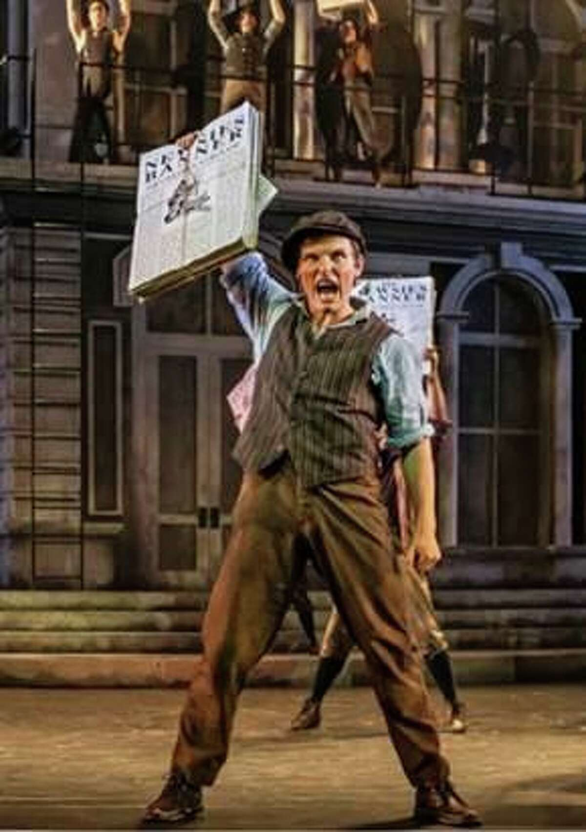 Alex Prakken is seen here as Jack Kelly in the national tour of Disney's